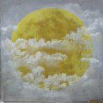 02 La lune jaune 130x130 pastel sur toile (2014)