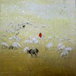 07 Les moutons 130x130 pastel sur toile (2011)