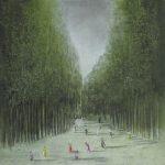 08 L allee des danseurs 120x120 pastel sur toile (2012)