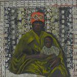 11 Femme et enfant - pastel sur collage - 30x30 (2012)