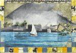 21 la fellouk - huile et collage sur manuscrit - 21x25 (2016)