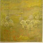 27 Le printemps 120x120 pastel sur toile  (2014)