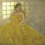 07-La-princesse-en-jaune-120x120-pastel-sur-toile-2016