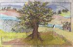 13-L-arbre-30x21-pastel-et-collage-sur-papier-japonais-2018